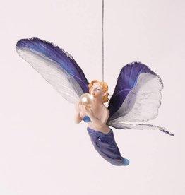 Angel hanger blue, 12cm