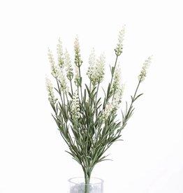 Lavendel (Lavandula) bush x76bld & 19blm (8cm), UV-safe, volplastic, 45cm
