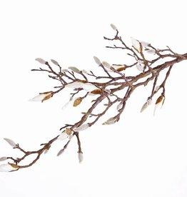 Magnolienzweig, mit 34 Knospen (7 davon offen), 104cm