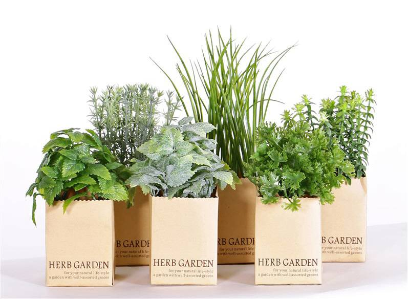 mixed herbs - top art artificial flowers and plants