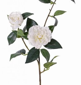 "Camelliaspray ""de luxe"" x2flrs, 1bud & 22lvs, coated stem, REAL TOUCH,  86cm"