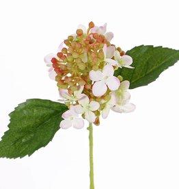 "Hydrangea ""fresh bloom"" x15flrs, 2lvs & soft pvc buds, 33cm"