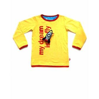 T-shirt My dream is to fly + Raket speeltje