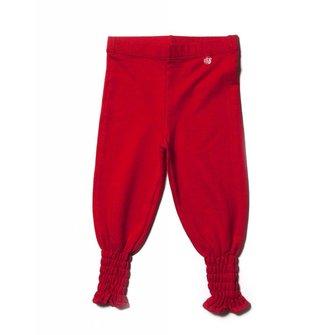 Rode leggings baggy stijl