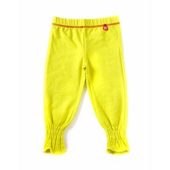 Knal gele leggings baggy stijl