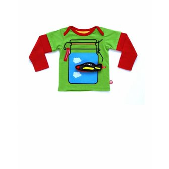Baby T-shirt Nubi + Vliegtuig speeltje
