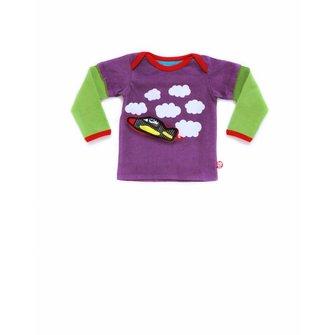 Baby T-shirt Sky driving + vliegtuigje