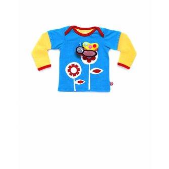 Baby T-shirt Girlflower + Vlinder speeltje