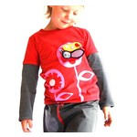 Camiseta Happy Flower y juguete