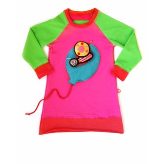Dress Balloon pink + snail toy