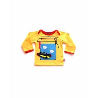 Baby T-shirt sunny day + vliegtuigje
