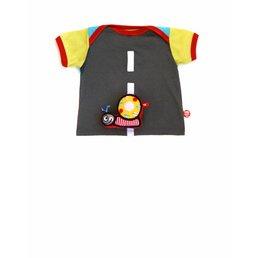 Stoer autoweg baby T-shirt met vrolijk slak speeltje