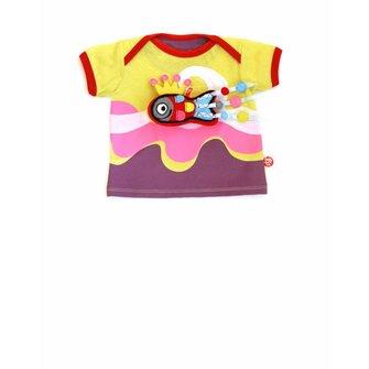 Baby T-shirt surf girl en vrolijke vis