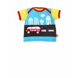Camiseta bebé Sightseeing y furgoneta VW