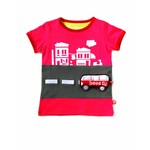T-shirt Italian adventure fuchsia and Van toy