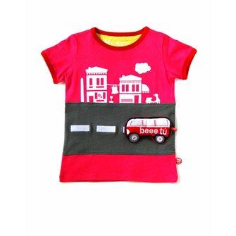 Camiseta Italian adventure fucsia y juguete