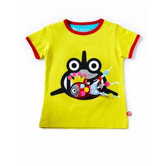 Acid yellow T-shirt Sharkiss and Fish