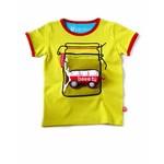 Stoer fel geel wek-pot T-shirt met VW busje