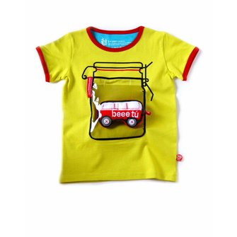 Cool acid yellow jar T-shirt with VW Van toy