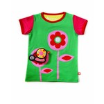 Apple green Flower T-shirt with cute Snail