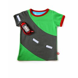 Playful T-shirt with motorway and fast car
