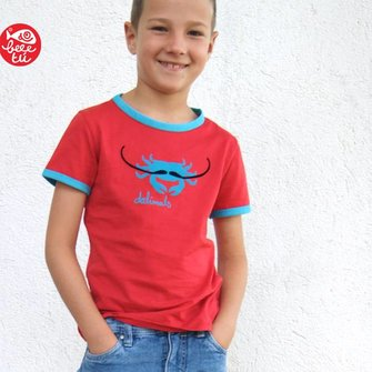 T-shirt Dalimals Rood