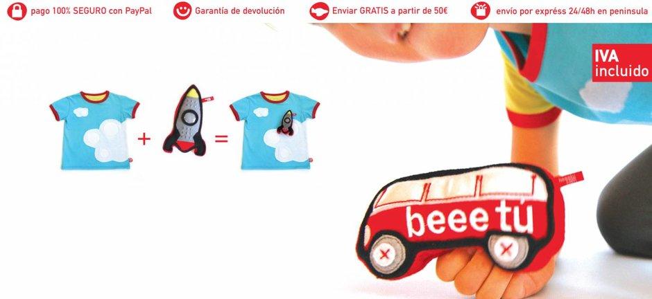 T-shirt con juguete. Estimula la imaginación y la creatividad