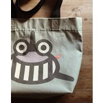 BeeeTú Tote Bag Shark grey/ khaki/yellow