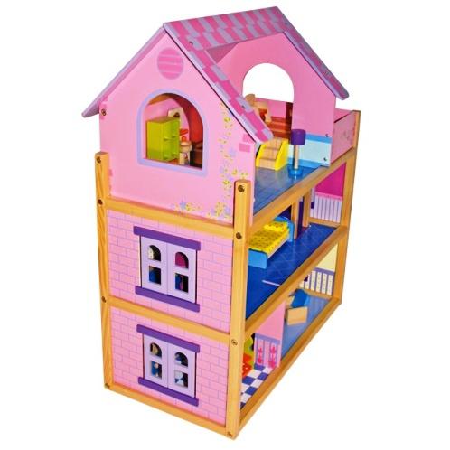 Mentari Houten poppenhuis Rosa