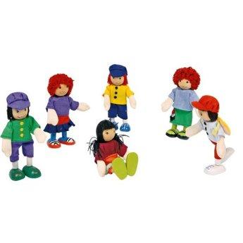 Legler Poppenhuis poppetjes 'de 6 vrienden'