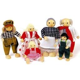 Legler Poppenhuis poppetjes in kledendracht