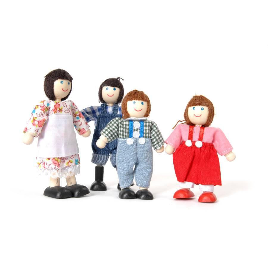 Tidlo Familie Twiddels 4 poppenhuis poppetjes