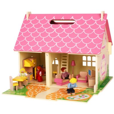 poppenhuis ruime keuze snel in huis het houten poppenhuis. Black Bedroom Furniture Sets. Home Design Ideas