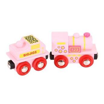 Bigjigs Roze 123 trein