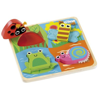 Tidlo Touch and feel puzzel insecten