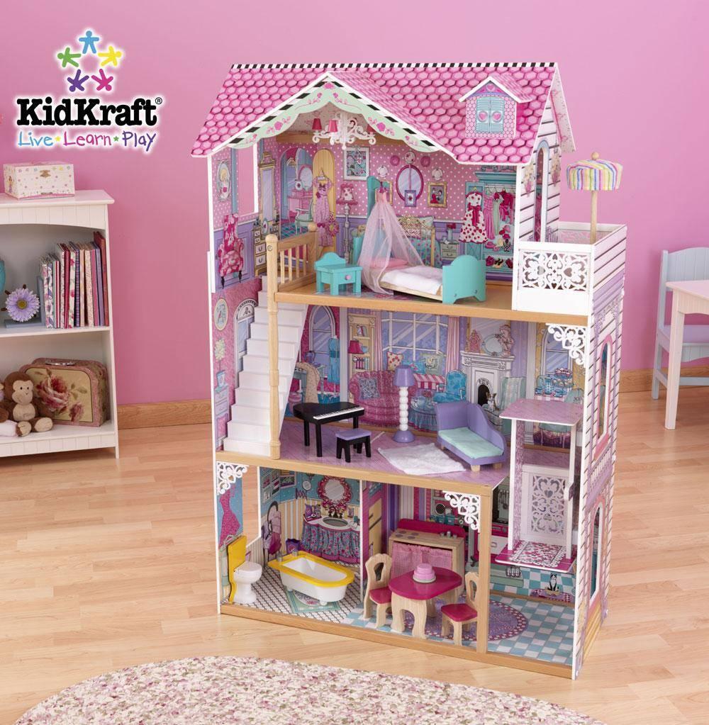 Kidkraft annabelle barbiehuis gratis verzending het for Poppenhuis voor barbie