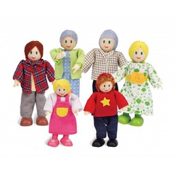 Hape Poppenhuis poppetjes Happy Family