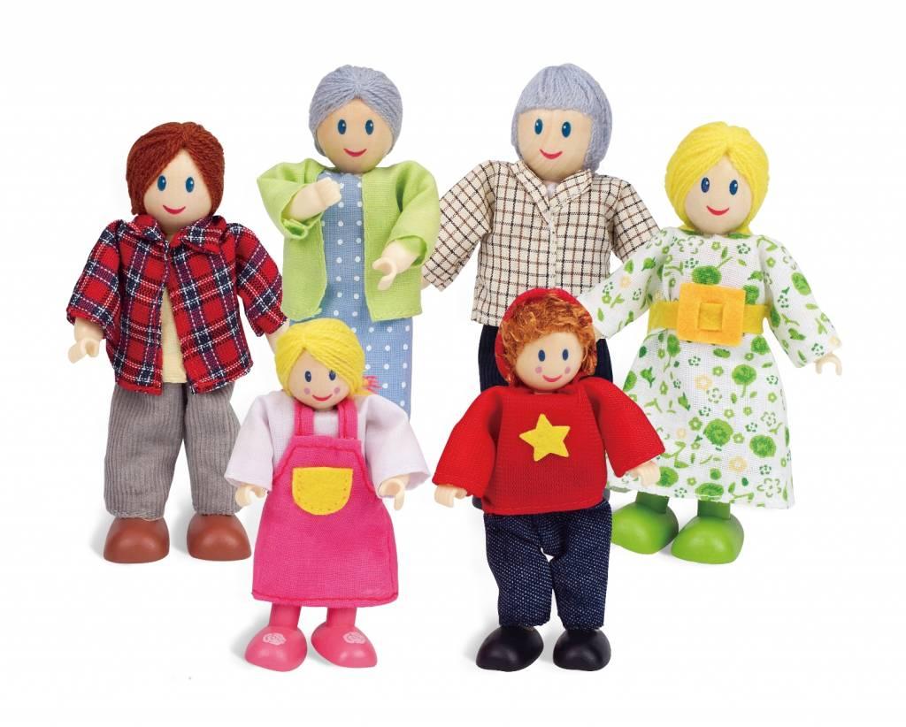 Hape Poppenhuis poppetjes Happy Family