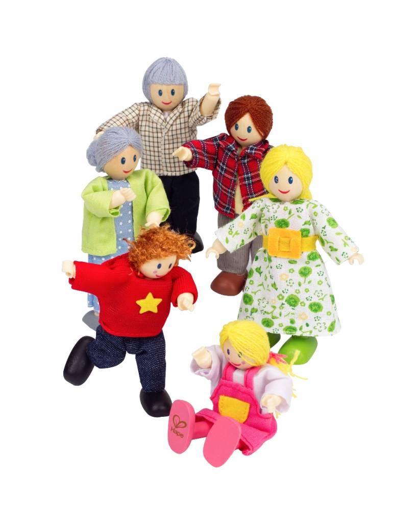 Poppenhuis poppetjes happy family het houten poppenhuis for Poppenhuis poppetjes