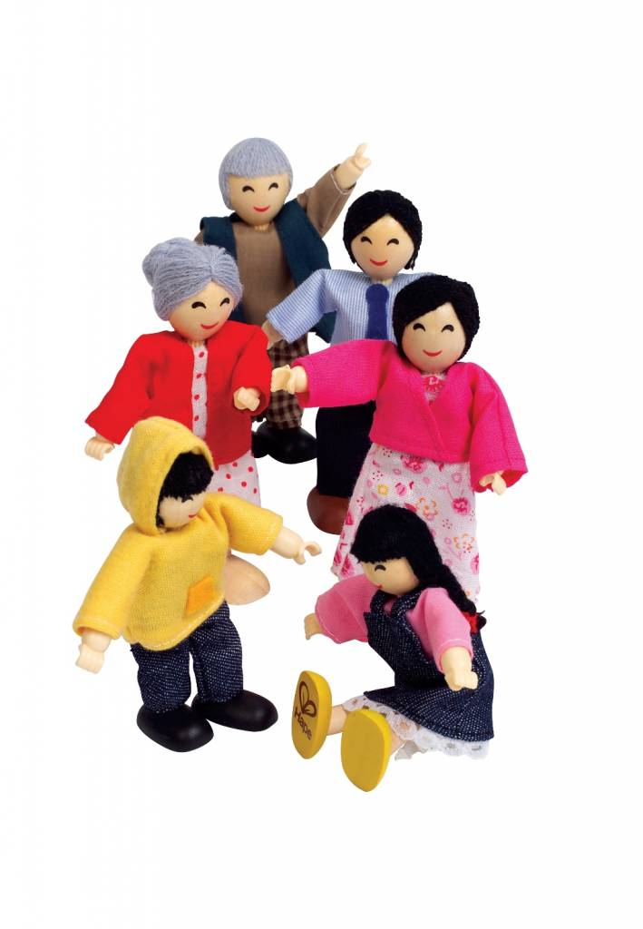 Hape Poppenhuis poppetjes Asian Family