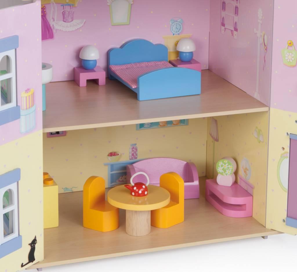 Le Toy Van Poppenhuis Sweetheart Cottage inclusief meubeltjes