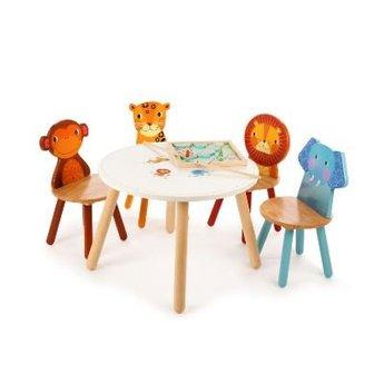 Tidlo Houten kinderstoel Luipaard