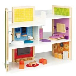 Houten poppenhuis ruim assortiment het houten poppenhuis for Barbiehuis meubels