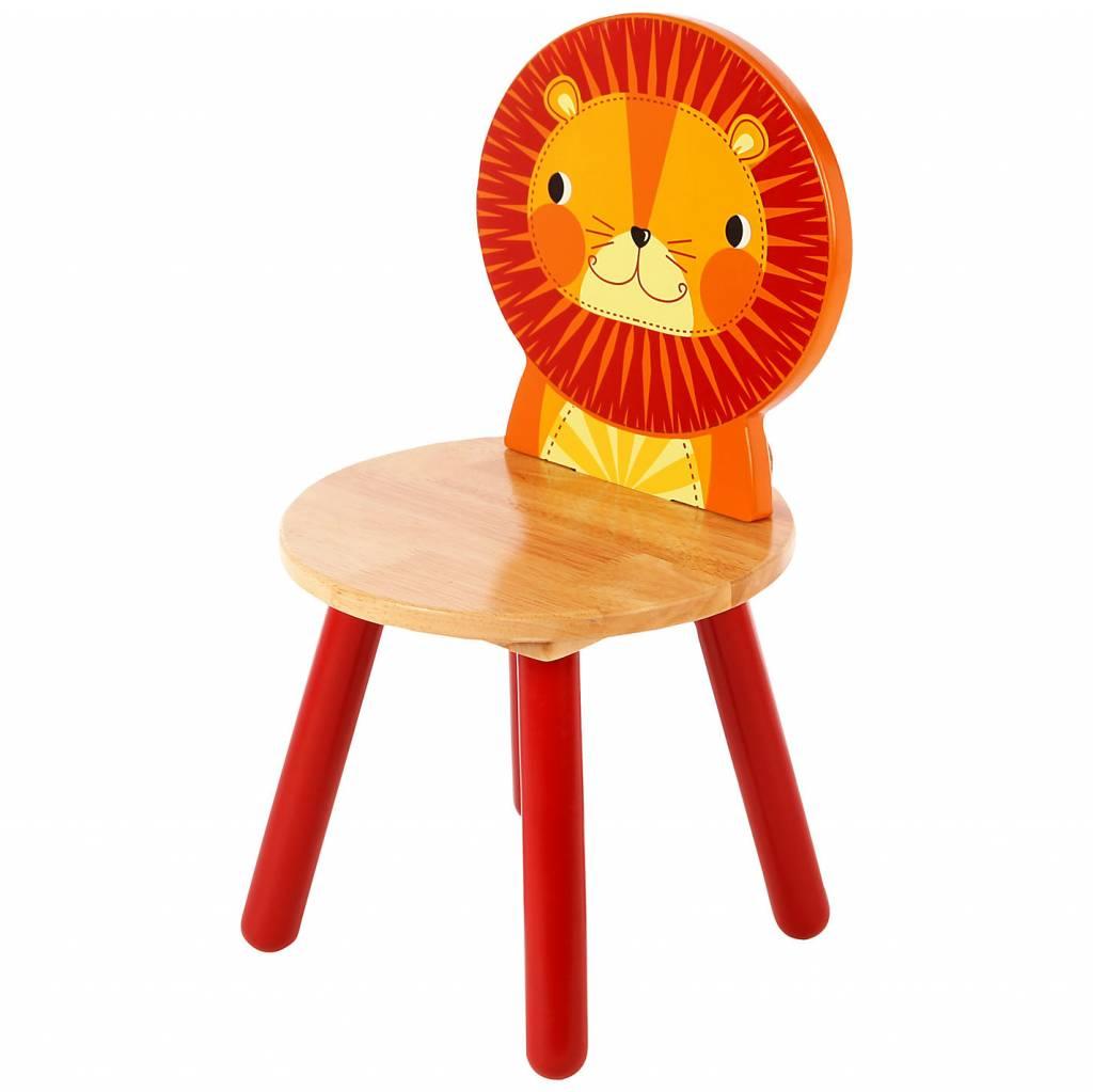 Tidlo Houten kinderstoel Leeuw