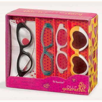 Our Generation Be Speckled Brillen Set