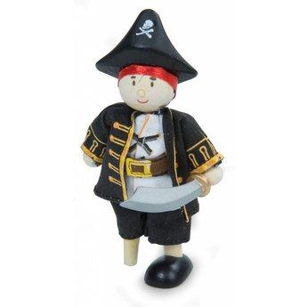 Le Toy Van Piraat Kapitein met Houten Been Budkin