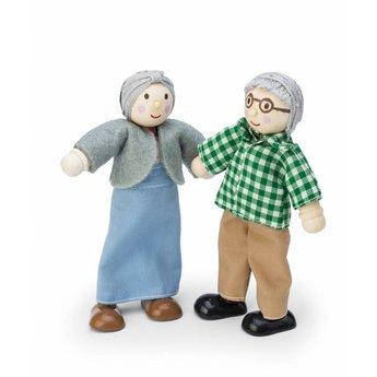 Le Toy Van Poppenhuis Poppetjes Opa en Oma