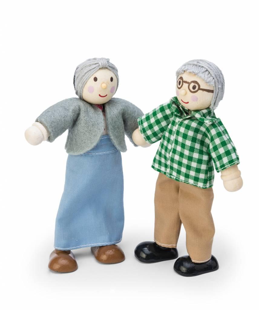 Le toy van opa en oma bestel eenvoudig het houten for Poppenhuis poppetjes