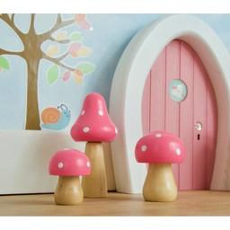 Droomdeurtjes Paddenstoelen set Roze