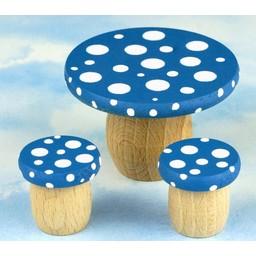 Droomdeurtjes Droomtafeltje met Krukjes Bosbessenblauw